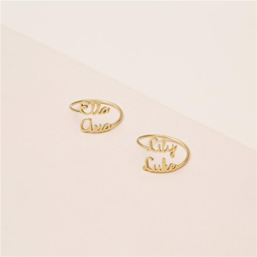 Custom Name Ring For Women Men Best Friends Wedding Christmas Gift BFF Gold Stackable Anillos Mujer Personalized Jewelry