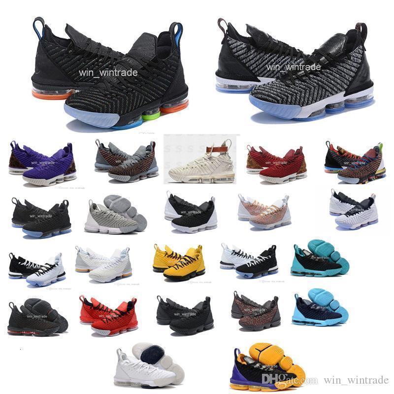 erkekler james spor ayakkabılar 16s eşitlik basketbol ayakkabıları taht kral oreo izle yeni-lebron 16 eşitlik szie 40-46