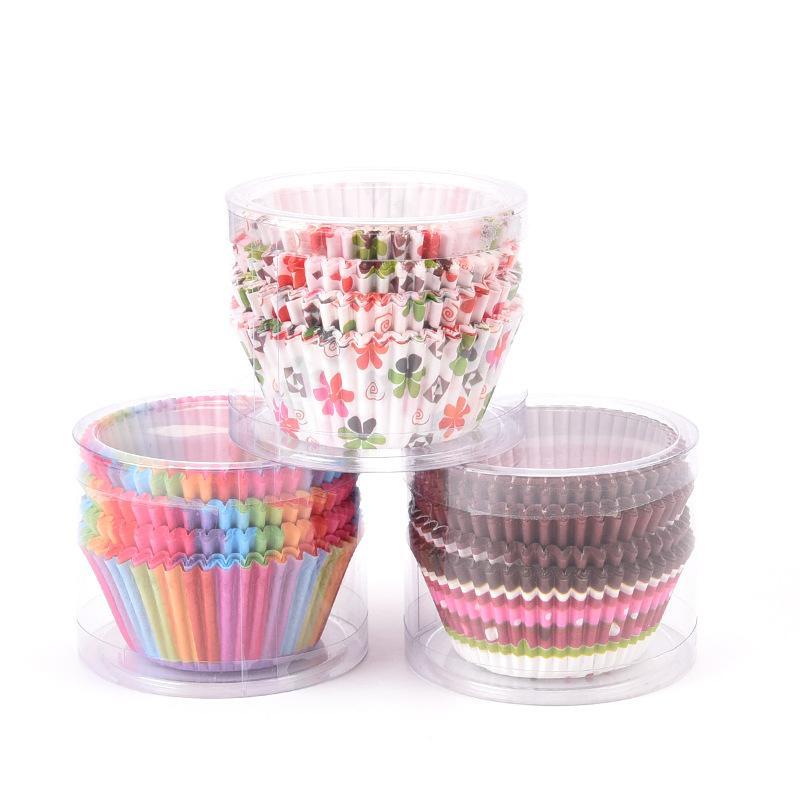 200 unidades / lote Bolo Mold Cups Muffin Cupcake papel Kraft Muffin suporte Casos Mold Bolo Cozinha Forno Ferramenta Baking