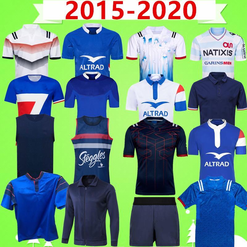 2015 2020 فرنسا دوري الرجبي JERSEY تسعة نظام سترة السراويل بطل خمر طبعة تذكارية سترة مجموعة الأطفال تدريب ارتداء سترة تي شيرت