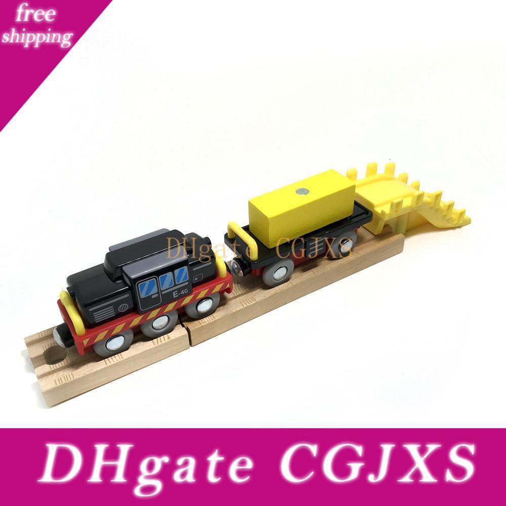 Doca de madeira Carregando Guindaste da carga cena do navio adequado para Acessórios Toy série do trem Brio trilha Crianças Pista
