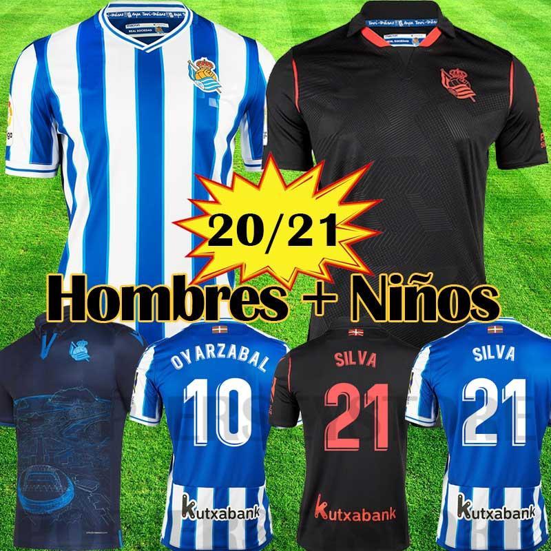 Real Sociedad camiseta de futbol 2020 2021 SILVA X.PRIETO J.ZALDUA AGIRRETXE 19 20 Jersey de Futbol Local CARLOS V. GRANERO M.BERGARA JUANMI Camiseta de fútbol de alta calidad