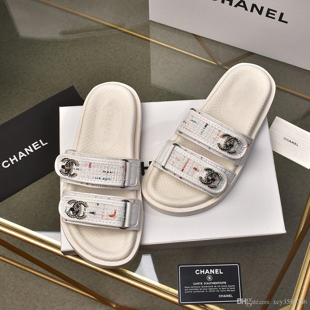 2020 luxury magic stick white black cowskin real leather platform designer sandals women fashion shoes size 35 to 41 tradingbear