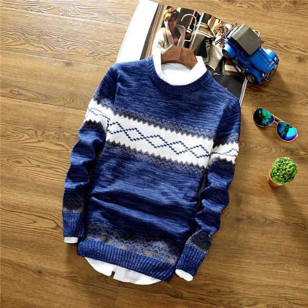 2020 algodón de la marca social Los hombres delgados suéteres jersey de lana a rayas ocasionales DE PUNTO punto de los hombres Masculino verano Jersey