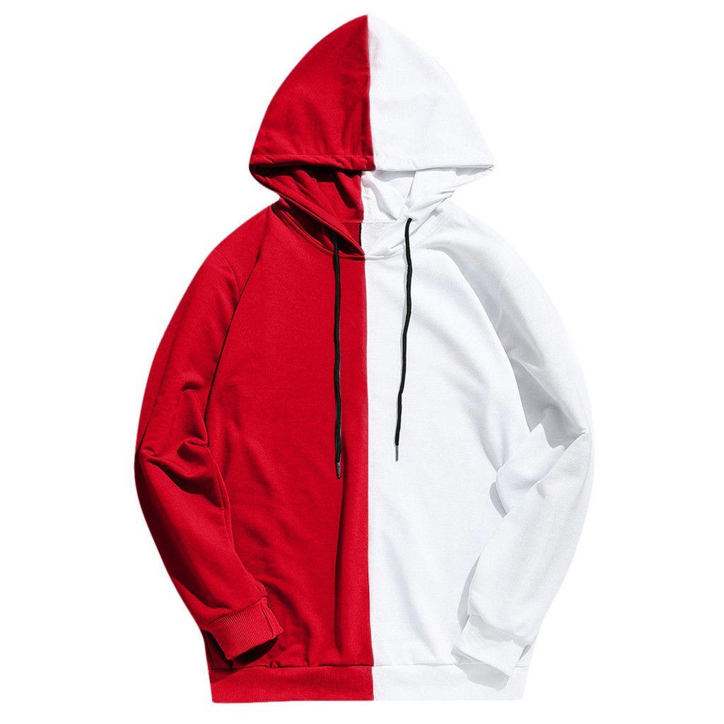 E-baihui 2020 Homens de Moda Outono Costura capuz cor sólida Zip Up Hoodie clássico com capuz Inverno camisola 001