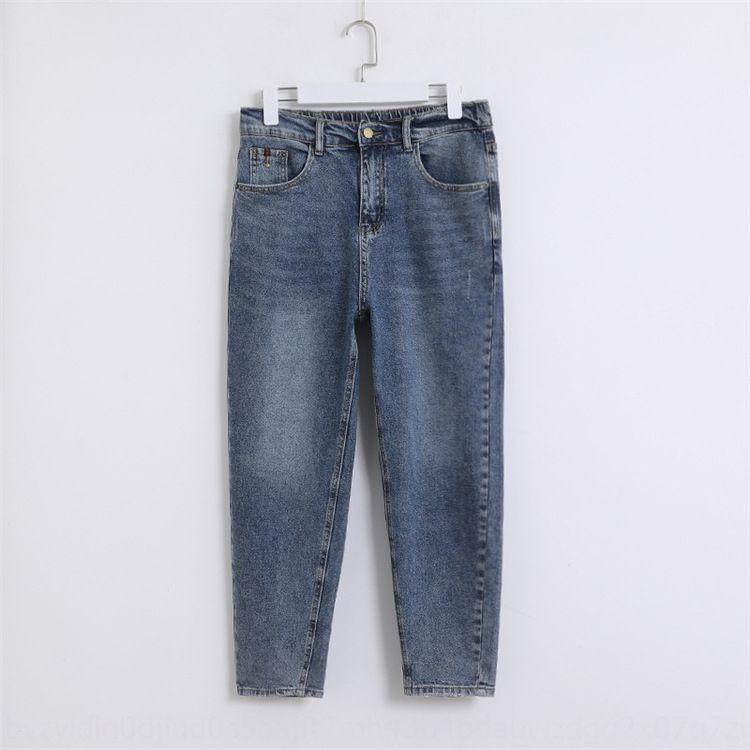 style jeans IshVl lâche des jeans MM2020 printemps nouveau pantalon en denim coréenne Fat et tout-match grand sarouel occasionnel de mode simple de taille 8838