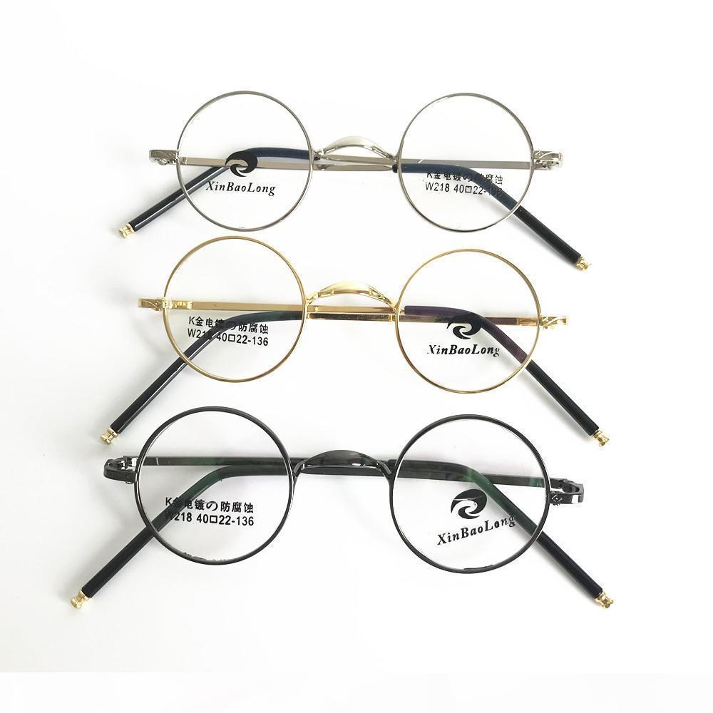 Vintage Klein 40mm Rund-Brille-Rahmen Metall Vollrand Optical unisex Brille