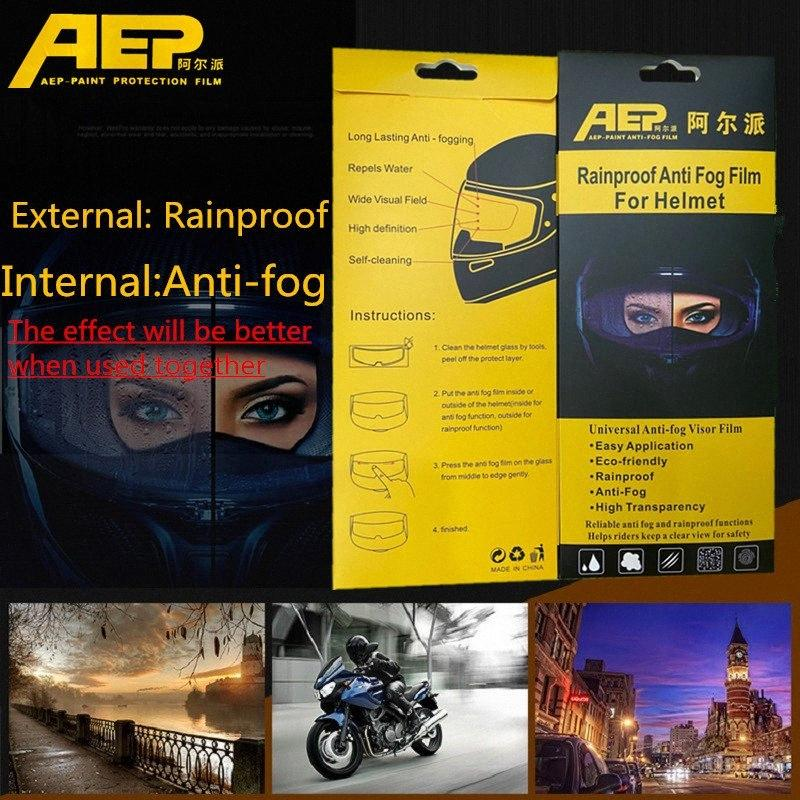 AEP 100 pcs Clear Pinlock Anti-fog patch Motorcycle Full Face Helmet Generic for K3 K4 AX8 LS2 HJC Marushin Helmets Lens Anti-fog viso WfQF#