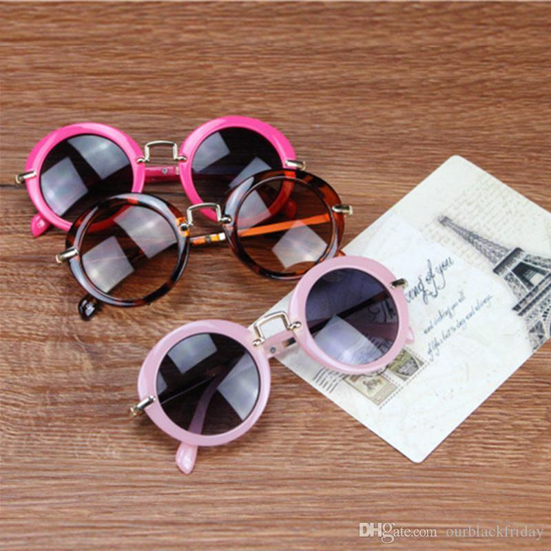 Yuvarlak Sevimli Çocuk Güneş Gözlüğü Kız Gözlük Koruyucu Gözlük Çocuk Gözlük Moda Aksesuar Seyahat Out Koruyucu Gla