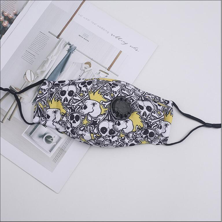 Suministro de la mejor calidad Máscara de algodón Mascarillas cómodo diseñador de moda 3-capa de máscara máscaras a prueba de polvo para adultos Earloop 202005157 # 697