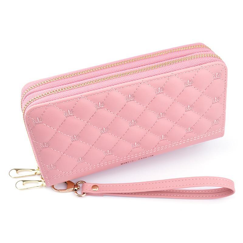 بو الجلود المرأة محفظة سيدة منذ فترة طويلة محافظ اللون المال المحافظ أنثى عملة المحفظة بطاقة حامل المحفظة جلدية WJJDZ