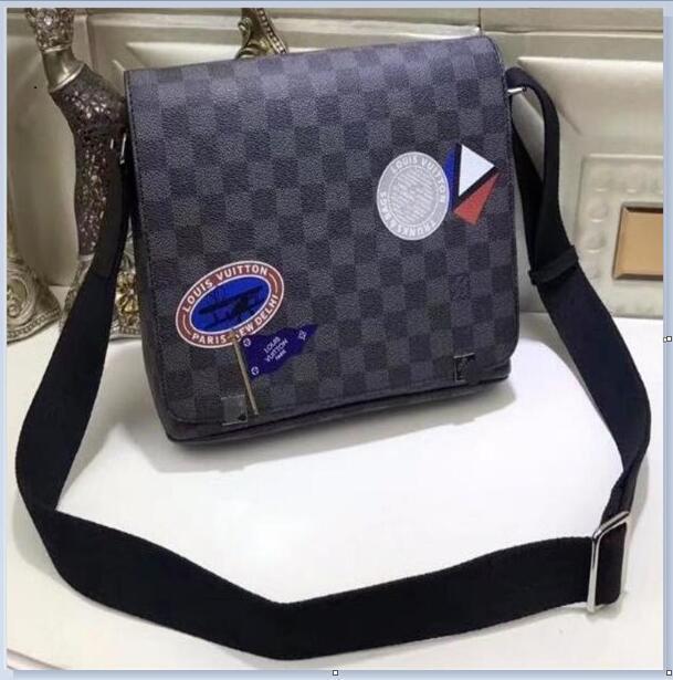 Mens il cuoio genuino Business Messenger Bag per viaggi di lavoro Crossbody singola cartella della spalla borsa