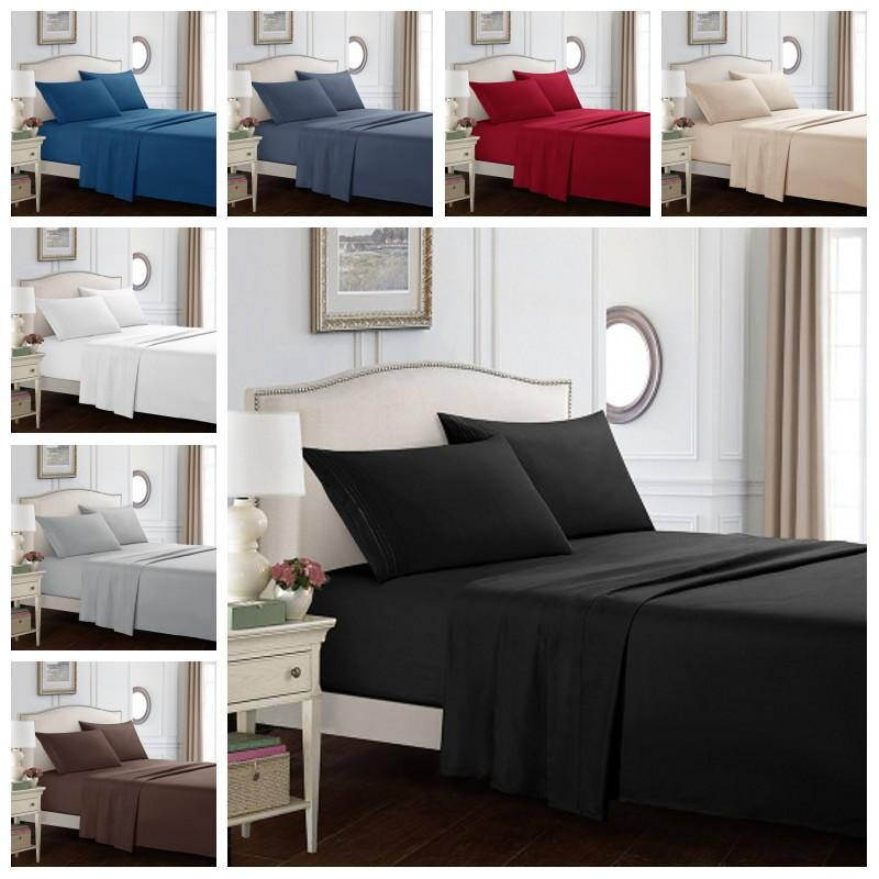 Pure Color Bedding Sets Twin Full Queen King Size Comforter Set Bedsheets Bed Covers Pillow Case Suit Duvet Cover Sheets 60 3wo H1