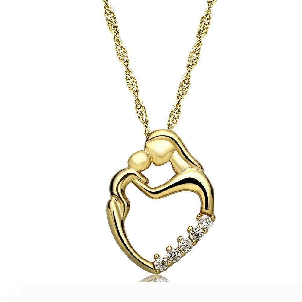 Aşk kalp kolye kolye Zirkon Kristal Su Damlası kolye Charm anneler günü hediyesi kolye kolye ücretsiz gönderim