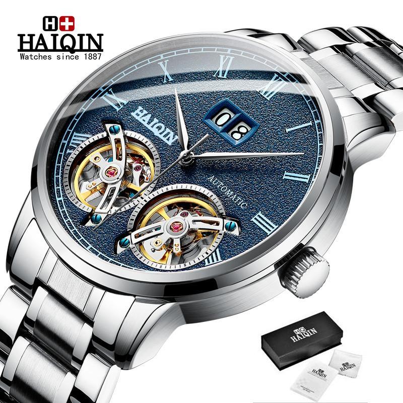 Femininos Haiqin Relógios Negócios Moda relógio de pulso Mens Top Relógio Mecânico Man Esporte Aço Relógio Reloj hombres 2020