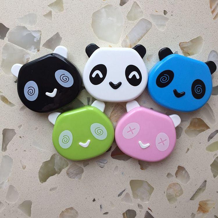 Nouveau Jieda panda Invisible cas cas Nursing dessin animé lunettes mignon invisible boîte compagnon lunettes myope boîte de soins de la pupille myope