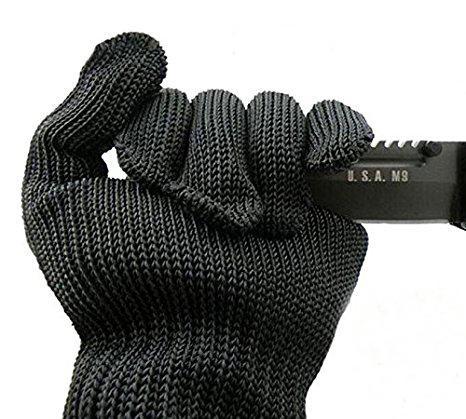 Пара Anti-Cutting Перчатки от порезов безопасности Дышащие Открытый Рабочие перчатки Руки Protector Черный Белый цвет A252