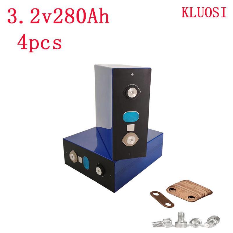 4PCS 3.2V280AH LIFEPO4 Batteriezelle 2020 neuer Akku Lithium-Eisen für 12V300AH RV SOLAR EV EU US TAX FREE