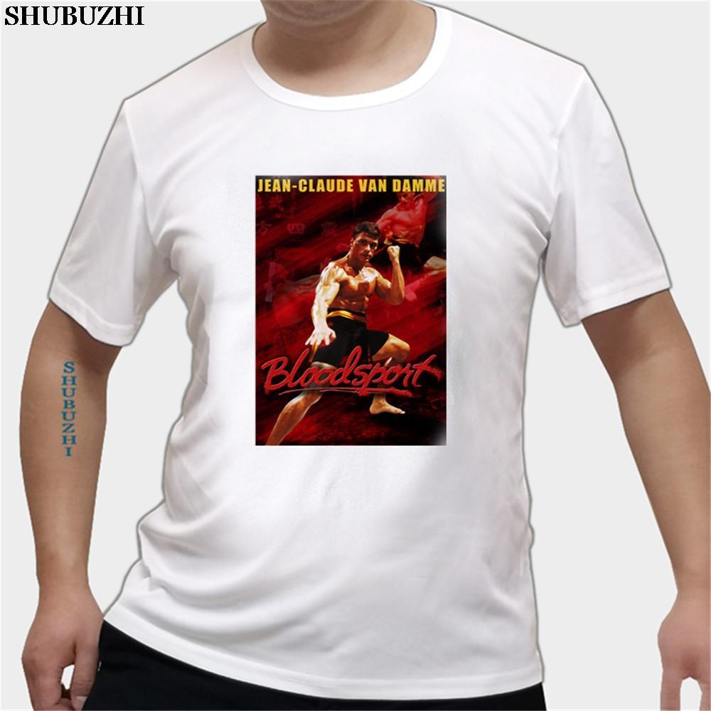Bloodsport Kan Van Damme Film Film Afişi Baskı Tshirt Man Pamuk Harajuku Tişörtler Erkek Komik Büyük Boy T Gömlek