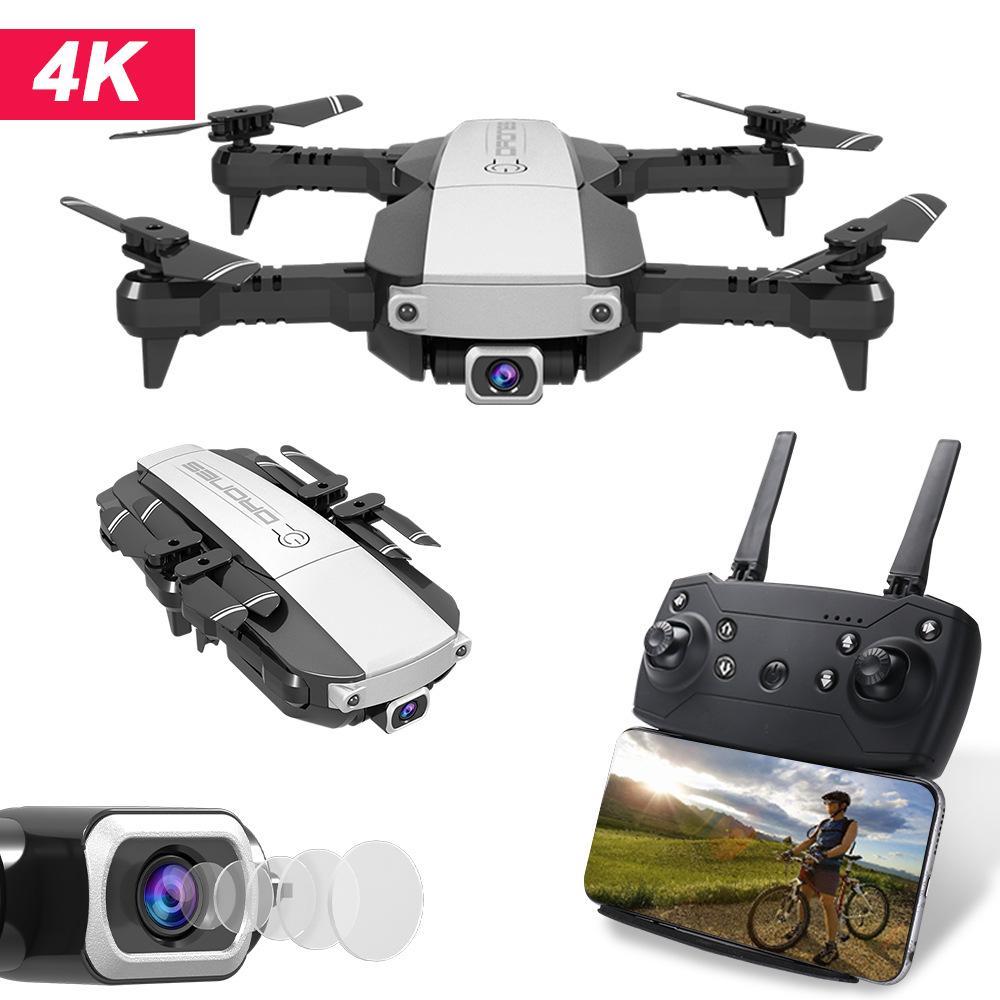 RC Drone 4K 1080P Quadcopter 2.4 GHz WiFi FPV HD Camera fotografica Pieghevole Mini Droni Remote Telecomando Aeromobili Aerei per bambini Giocattoli Giocattoli Regali