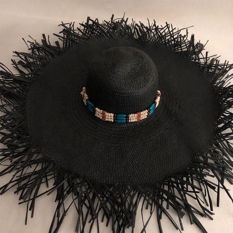 LVTZJ летние соломенные шляпы женщин большой широкими полями шляпы пляж шляпы ВС защита складная ВС блок УФ панама кости chapeu feminino