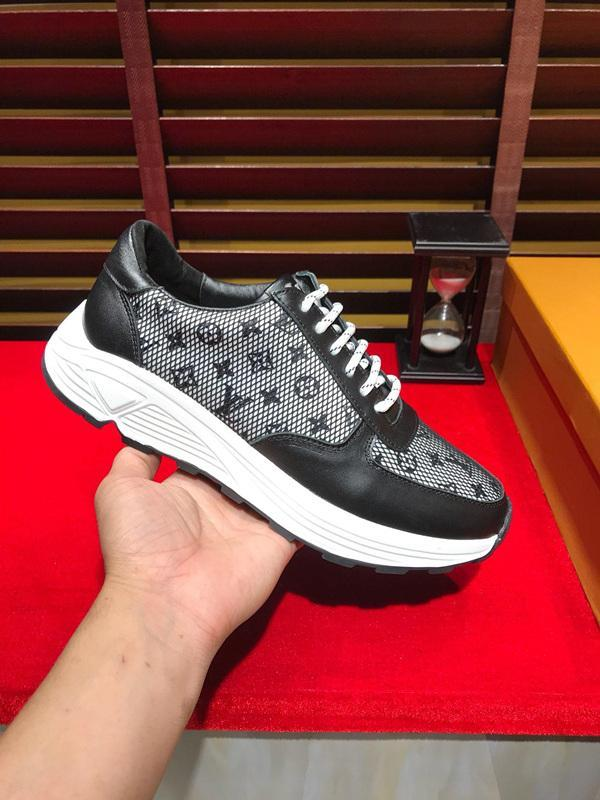 2021q Sınırlı Üretim Deri Erkekler '; S Açık Günlük Ayakkabılar Büyük Beden Vahşi Lace Up Sneakers Düşük -Top Rahat Nefes Tid
