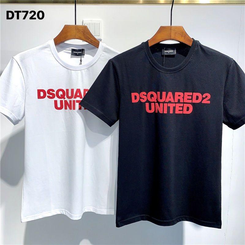 Camisetas Designer SS20 New Arrival Top Quality D2 roupas masculinas Imprimir Street Wear camisetas de manga curta M-3XL DT720