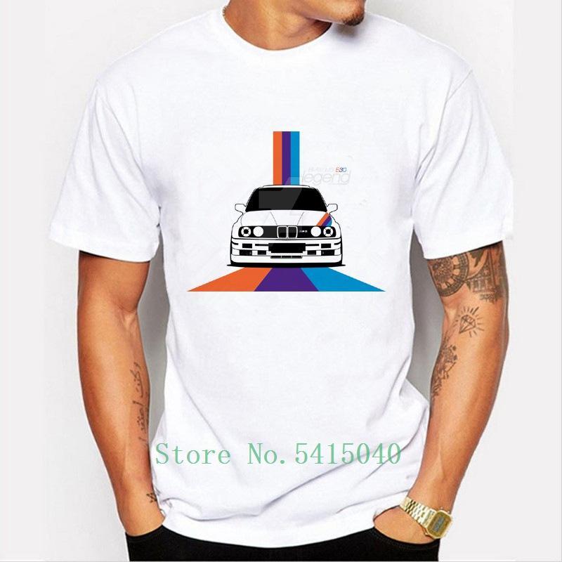 Novas dos homens de chegada Roupa raça Moda Car T Shirt fresco Tops manga curta Hipster M3e30 T-shirt Tees Marca