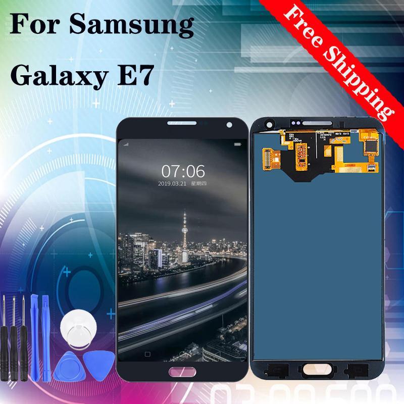 Super AMOLED İçin SAMSUNG GALAXY E7 E700 E700F E7000 E7009 E700H E700M LCD Ekran Dokunmatik Ekran Sayısallaştırıcı Meclisi Değiştirilmesi