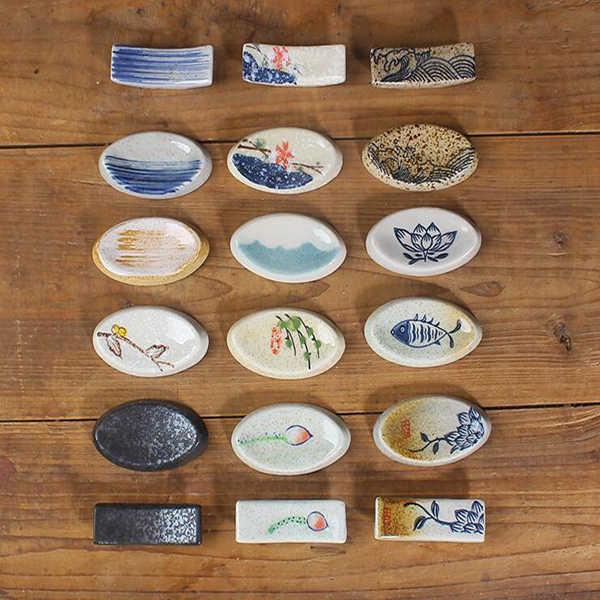 Nouveau glaçure porte-japonais chopstick, porte chopstick, vaisselle en céramique, ménage de l'hôtel