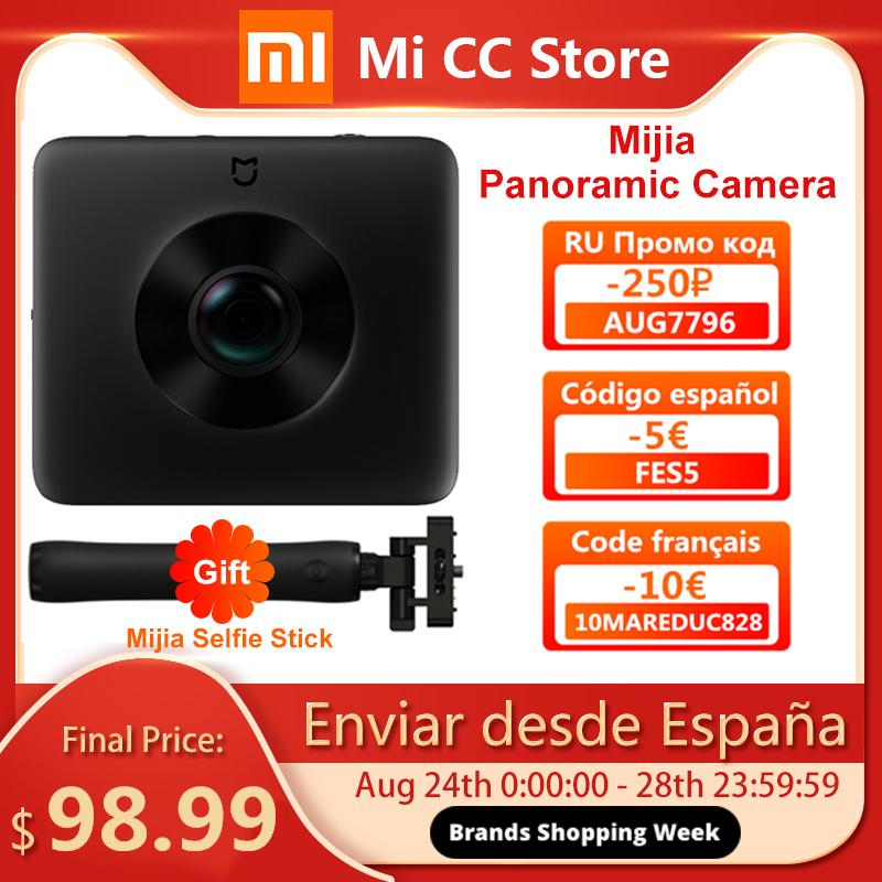 In Stock Xiaomi Mijia 360 Panoramic Camera 3.5K Video Recording Sphere Camera IP67 rating WiFi Bluetooth Mini Sport Camcorder LJ200828