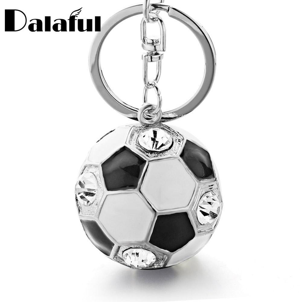 Beijia Cristal Futebol esmalte chaveiro Purse Bag Buckle bolsa pingente Para Car Chaveiros chaveiro titular para as mulheres K238