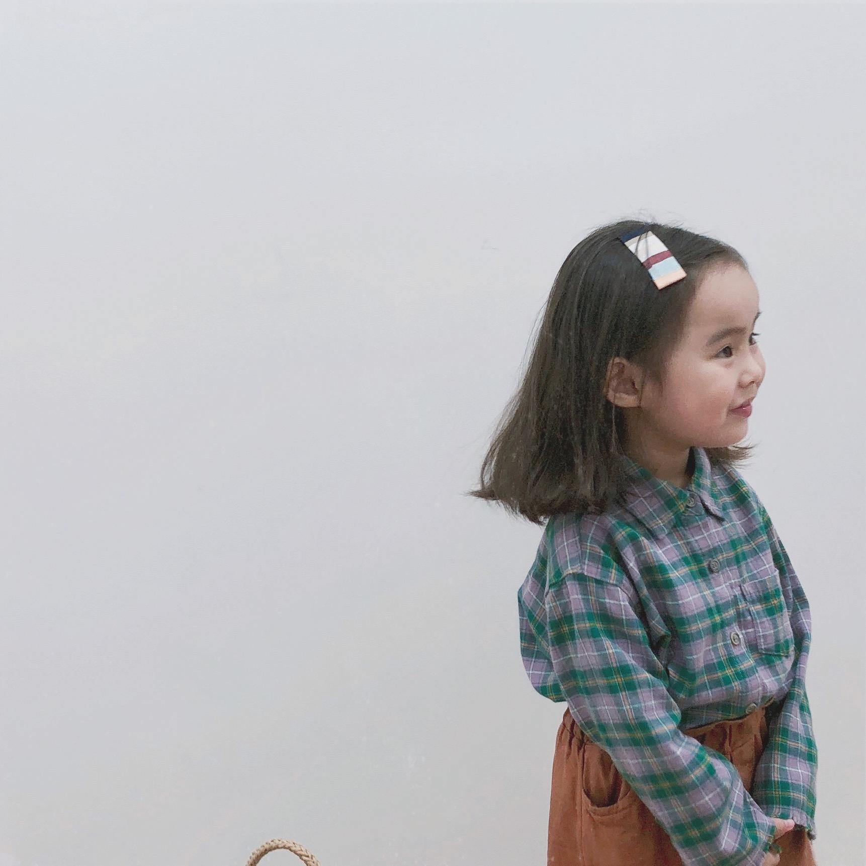FM INS coréen Japon Enfants Filles Garçons Chemises à carreaux en lin bio Boutons avant coton Qualité Tops Casual Little Princess enfants