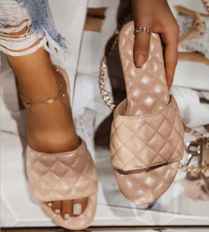 2020 mulheres verão sandálias de praia apartamentos sapatos mulher dedo aberto PU chinelos de couro escorregas sandalias suaves mujer sapato feminino 41