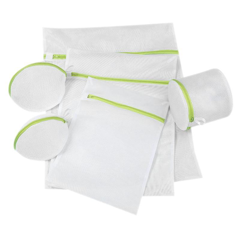 6pc Lavandaria saco blusa underwear bra portáteis sacos de malha Net ferramenta Wash Início armazenamento de roupas Cuidado Protecção dobrável Bag