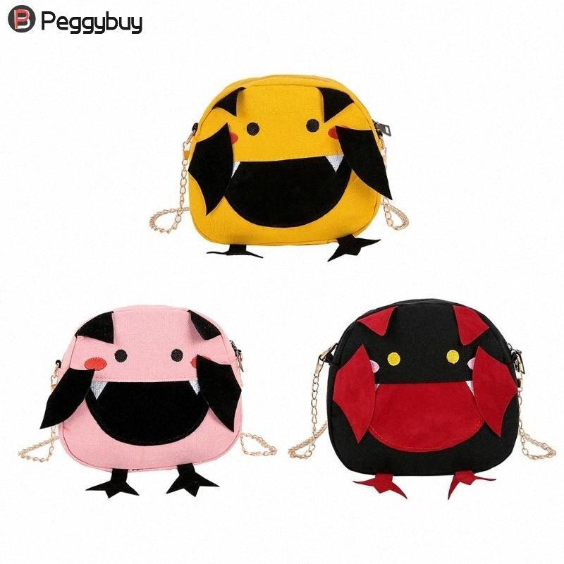 Girl Kids Cute Cartoon Canvas Bags Messenger Bag Crossbody Bags Women Casual Purse Chain Mini Shoulder Handbag Cheap Designer Bags Sat EJO7#