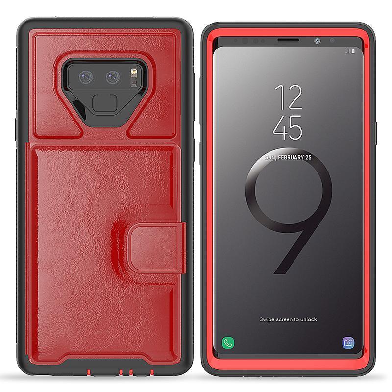 Caso cgjxs Para Samsung Nota 9 Carteira Caso premium Pu couro com cartão Slots Casos de telefone para Samsung Galaxy Note 9 S9 S9plus