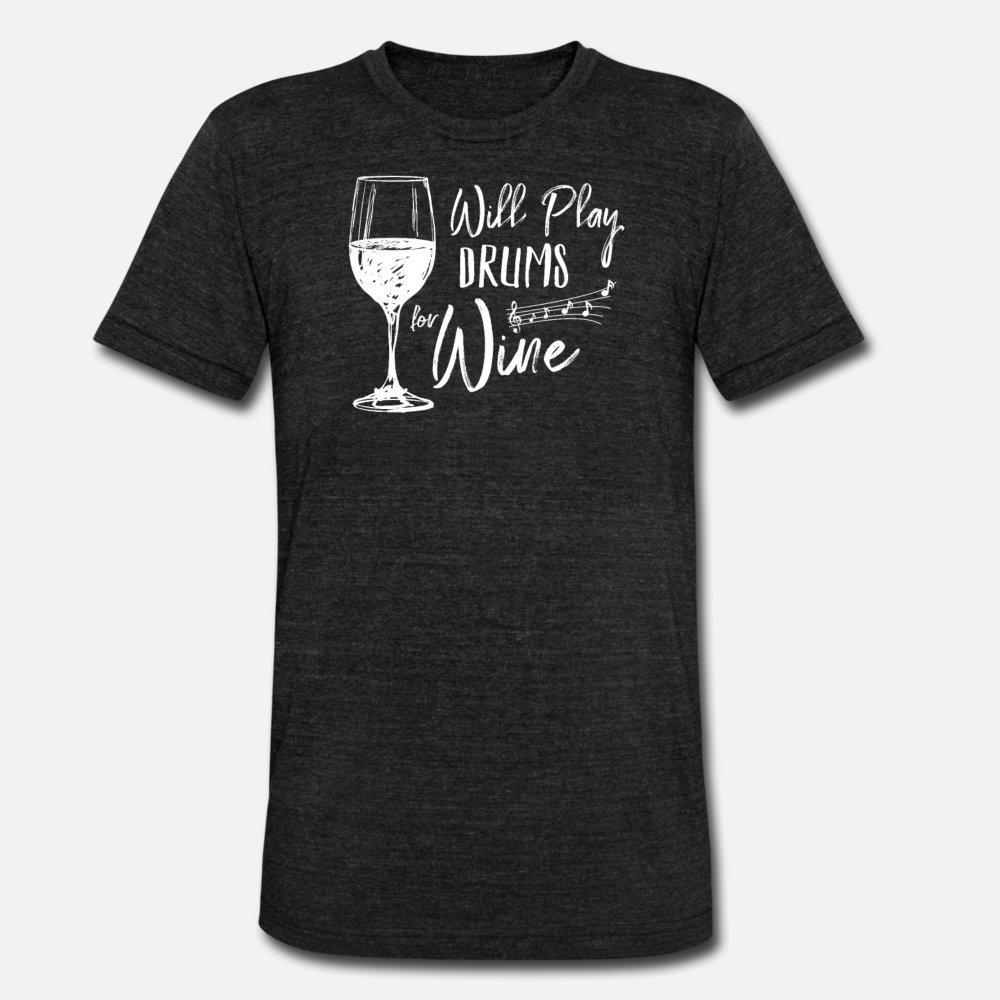 Engraçado do vinho Tambores camiseta homens designer de roupas de algodão plus size 3xl camisa edifício famoso Primavera Tendência 100%