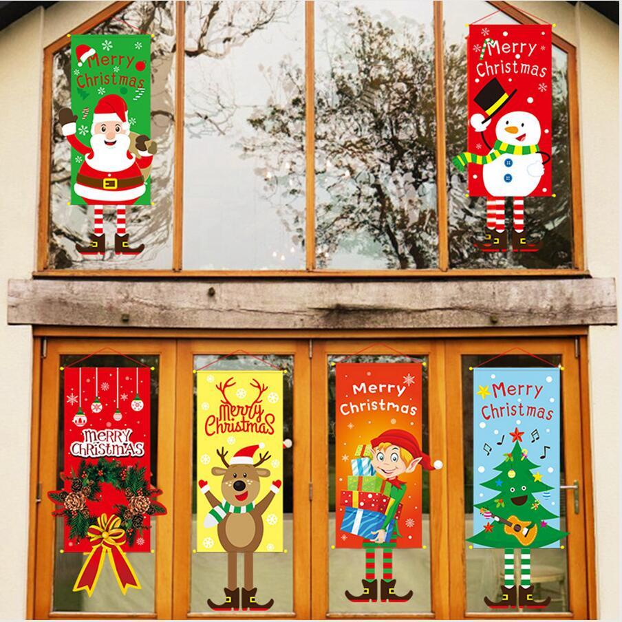 Xmas Hanging Pendant Merry Christmas Decor Home Window Decoration Christmas Door Ornament 2020 New Year Gift DDA328 Unique Christmas Decorating Themes