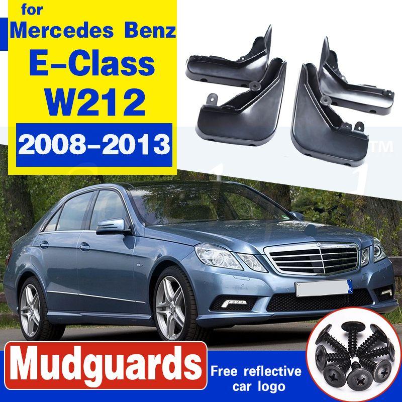 Set Moulé boue Rabats pour Mercedes Benz Classe E Classe E W212 2008-2013 Bavettes Pare-boue avant arrière Garde-boue