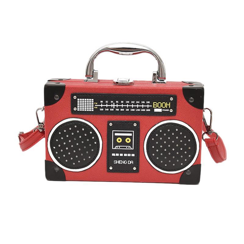Boîte Nouvelle Épaule radio Style PU Sac Sac à main Main Dames Cuir rétro Porte-monnaie Femme Bandbody Messenger Sac FLAP AMHIO