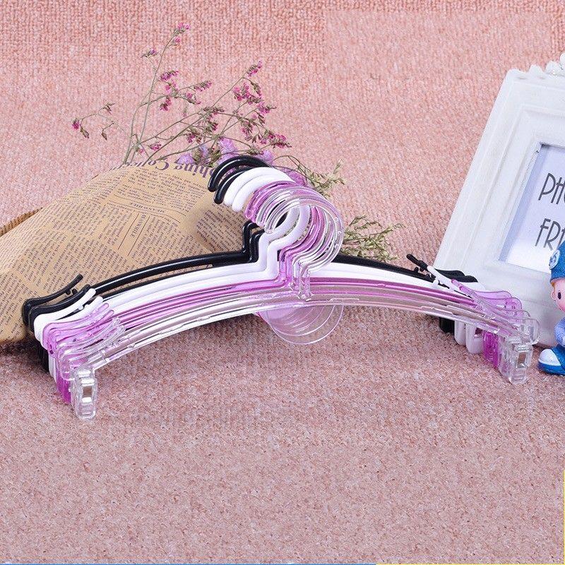 Capa de la manera percha ropa transparente plástico del soporte sujetador Panty del paño Estante organizador del armario del baño Tienda Accesorios 0 38zh B2
