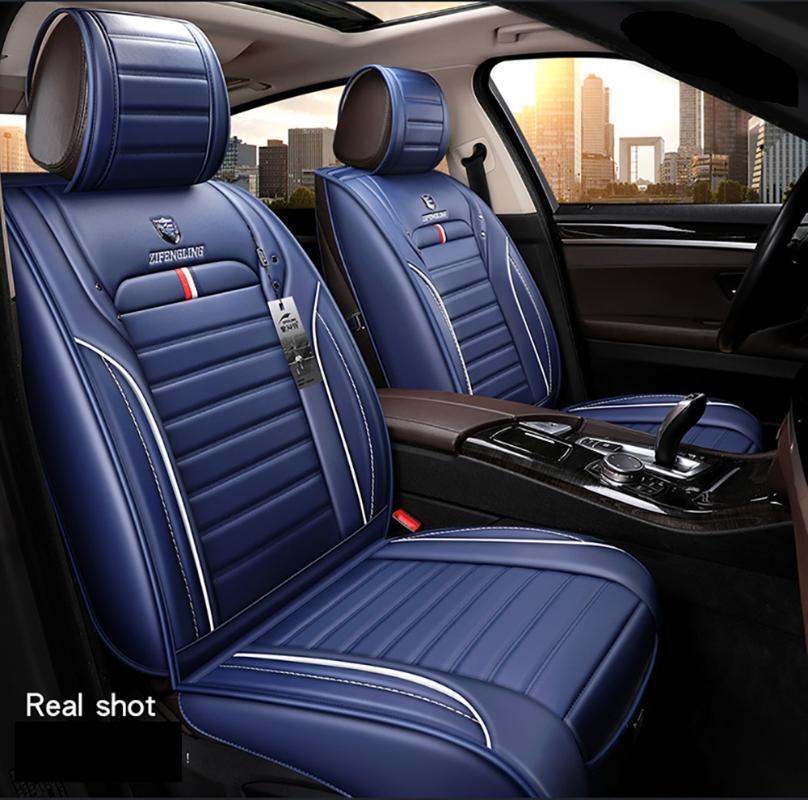 Autocovers Car Seat Covers para o Sudão SUV Durable Couro Adjuatable cinco assentos Almofada 5pcs Mats Para opelMeriva Mokka X ASTRA J