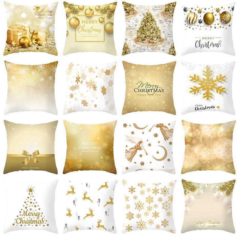 22 Stiller Merry Christmas Yastık Kış Dekor Mikro fibe yastık yüzleri noel Koltuk Yastık Kılıfı Yastık Kılıflar 45 * 45 cm yukarda atın Kapaklar