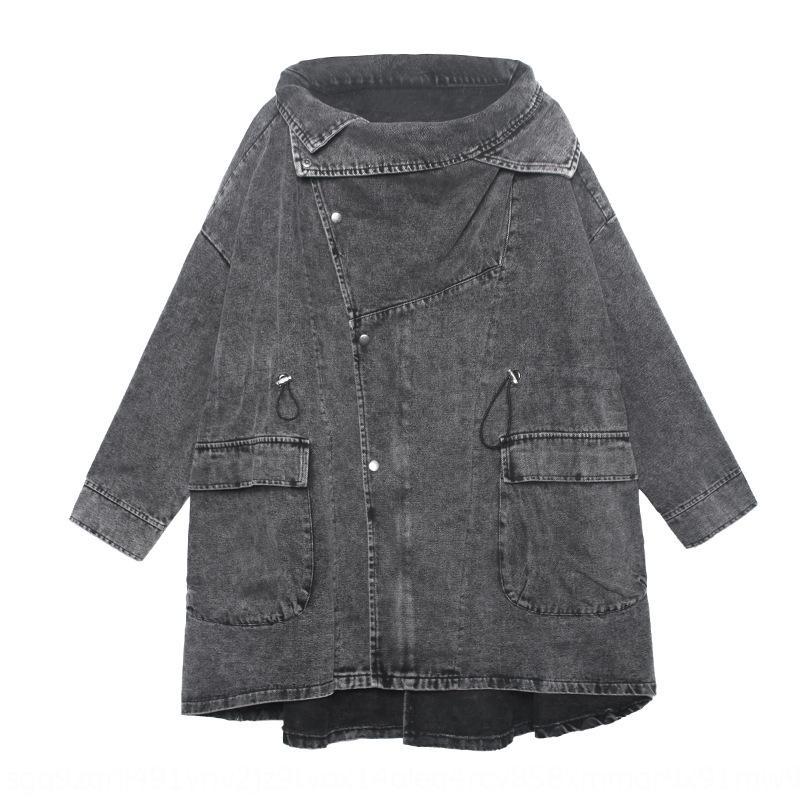 nouvelle ins de mode denim 2020 féminin printemps et l'automne rue frit grande taille caraco veste outillage bf