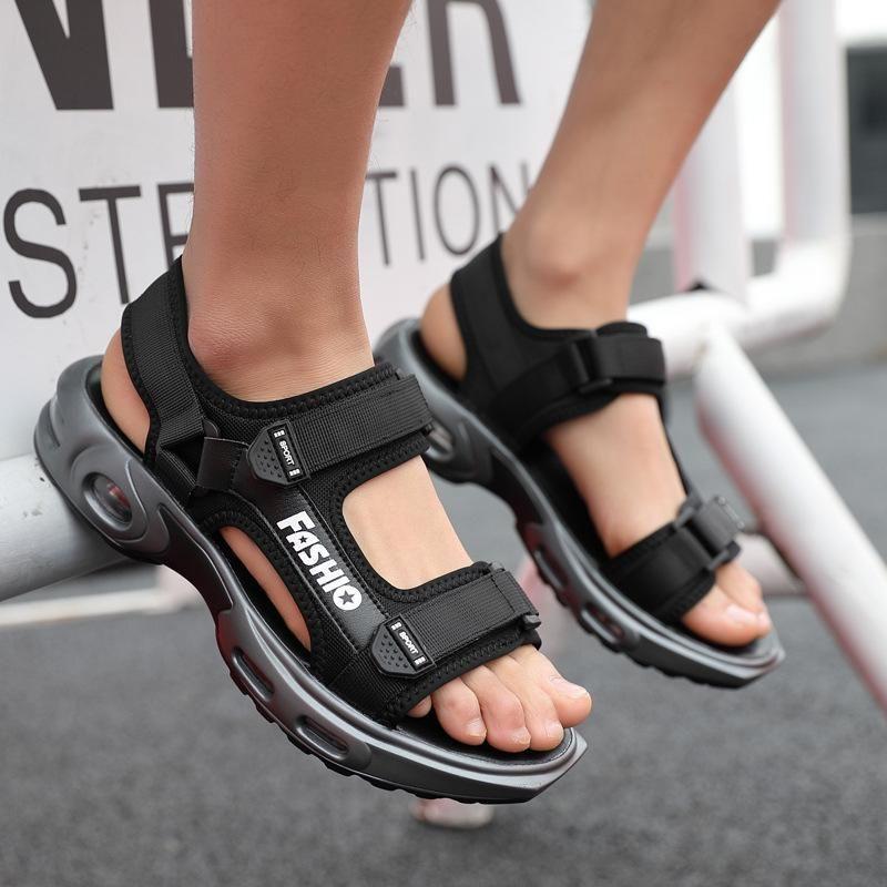 Лето новых людей сандалии Открытый тенденции моды Мужская пляжная обувь на воздушной подушке сандалии воды Обувь Sandalia Masculina