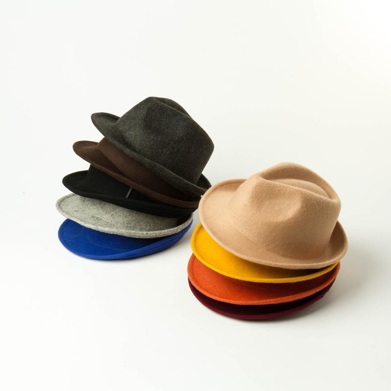 Girls Cashmere woolen cap baby kid casual Jazz hats children christmas party kids gentleman caps A4183