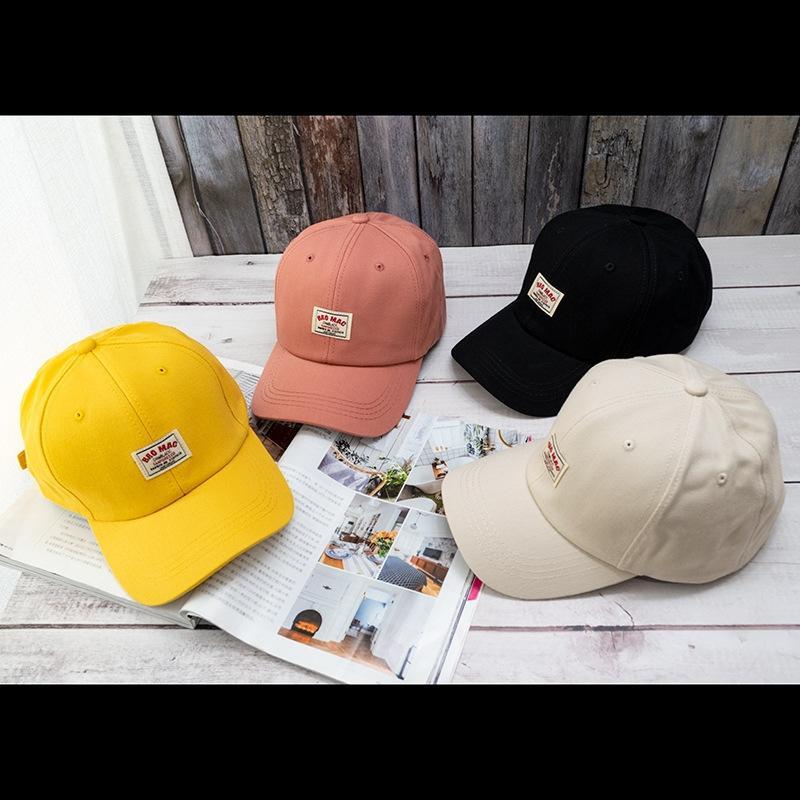 A5jBs baseball coreano ins primavera e l'estate delle donne del cappello soft top hat paio sole stile coreano panno label lettera tappo gioiell uomini del berretto da baseball