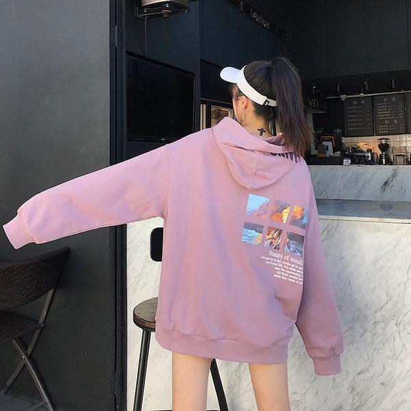 zCh4F tarzı kardeş giyim 2020 Kore Bahar öğrenci kız kazak En kadınların gevşek yeni kazak kapüşonlu uzun kollu üst tembel tarzı w