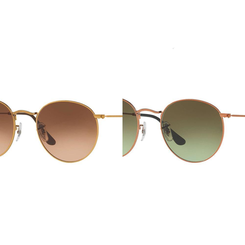 Chegada atacado 3447 redonda de metal óculos de sol Ban sunglight UV400 óculos de sol Lens-ponte 50 milímetros 21 milímetros jS57Q